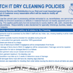 Dry Cleaning Policies