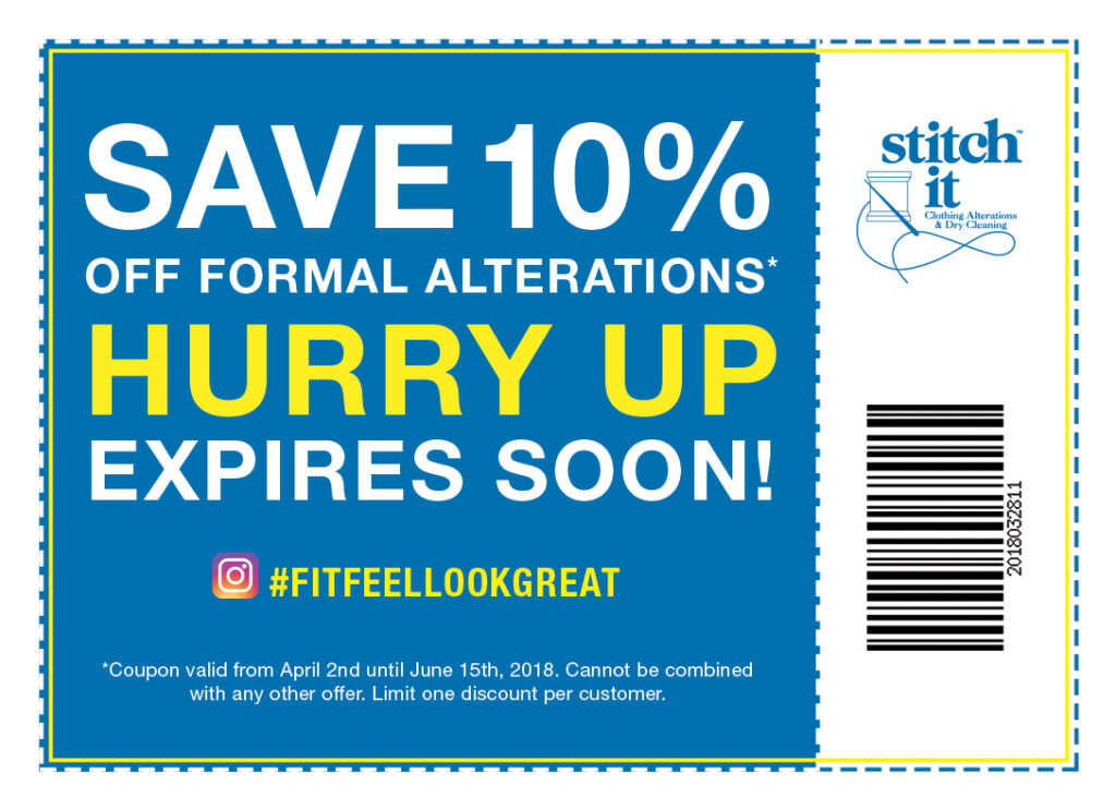 10% Off Formal Alterations Coupon